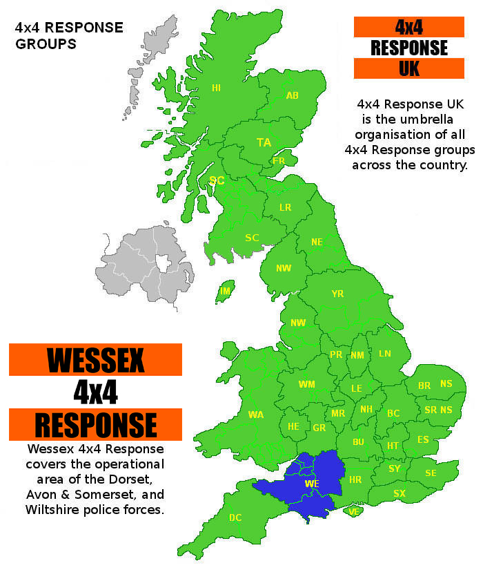 4x4 response uk wessex 4x4 response clickable map of 4x4 response groups gumiabroncs Images